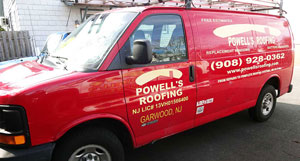 Powell's Roofing & Siding Truck in NJ