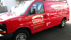 Powell's Roofing & Siding Truck
